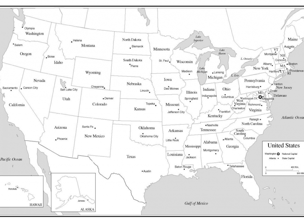 10 New Printable U.s. Map With States And Capitals   Printable Map   Free Printable Us Map With States And Capitals