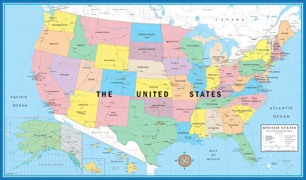 11×17 World Usa Educational Beginners Level K 4 Desktop Map With In | 11X17 Printable Us Map