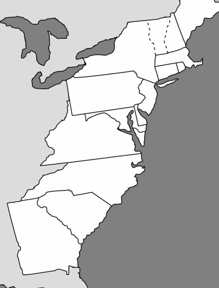 Us Map 13 Colonies Printable