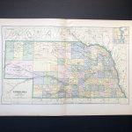 1887 Nebraska Usa Map Original Antique Print Map Of   Etsy   Printable Map Of Ne United States