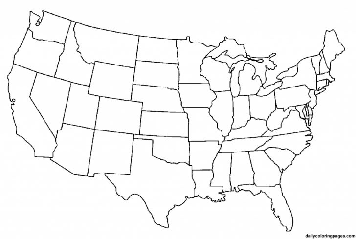 Blank Us Map Png