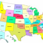 50 States Map With Capitals   Earthwotkstrust | Us 50 States Map Printable