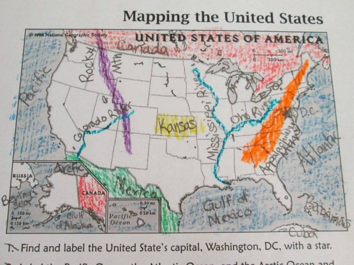 Printable Landform Map Of The United States