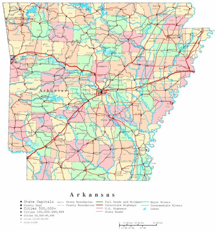 Printable Us Map With Counties