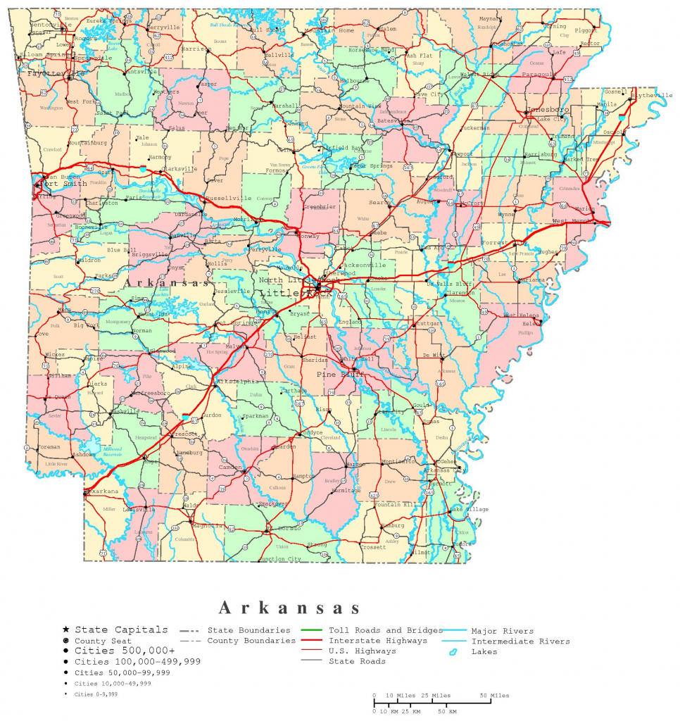 Arkansas Printable Map | Printable Us Map With Counties