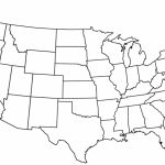 Black And White Map Us States Usa50Statebwtext Awesome Best Blank Us | Blank Us Political Map Printable
