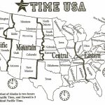 Black And White Us Time Zone Map   Google Search | Social Studies | Printable Us Map Time Zones