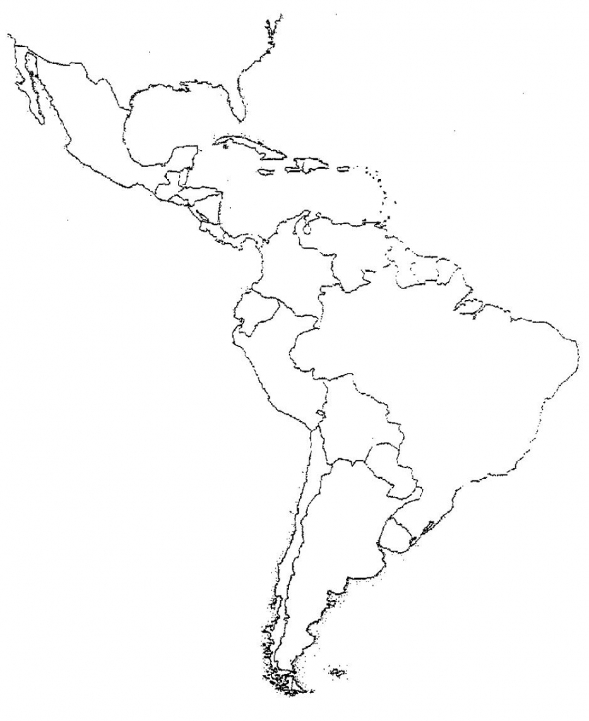 Blank Latin America Map Quiz | Social Studies | Latin America Map | Printable South America Map Quiz