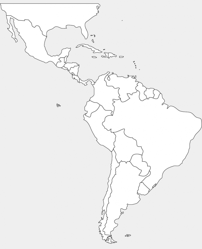 Blank Map Of Latin American Countries And Travel Information | Printable Map Of Central American Countries