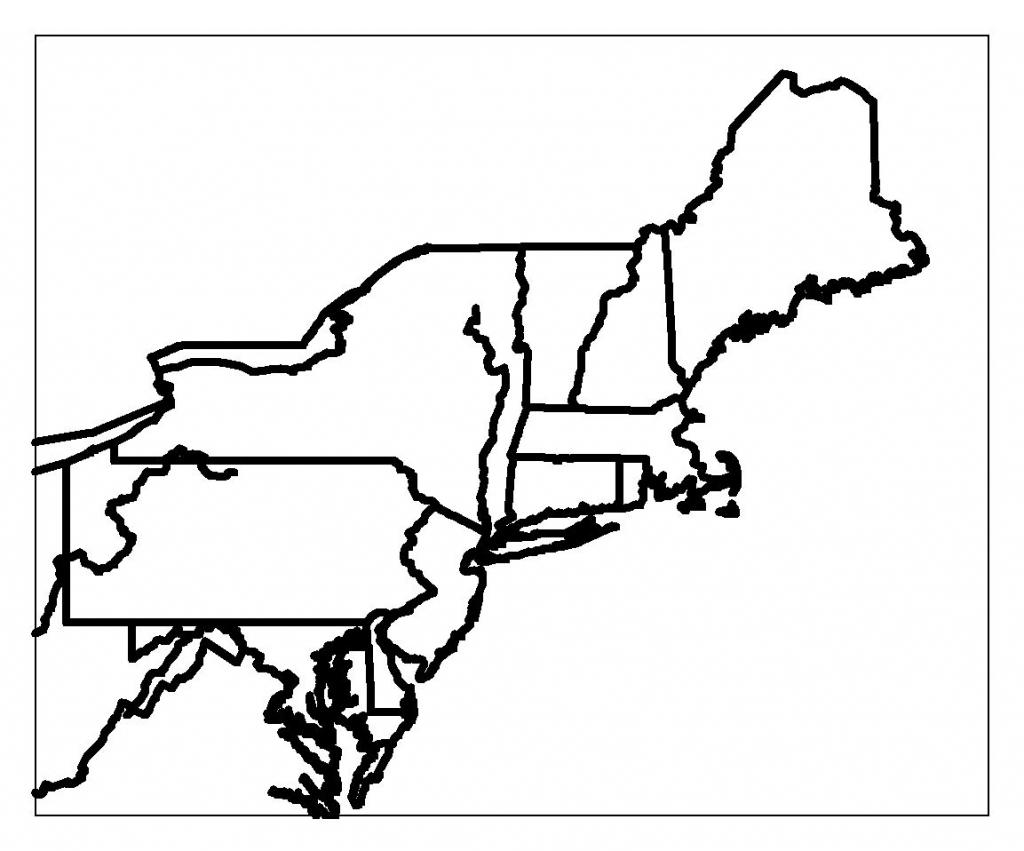Blank Map Of Northeast Region States | Maps | Printable Maps, Us | Printable Map Of Northeast Usa