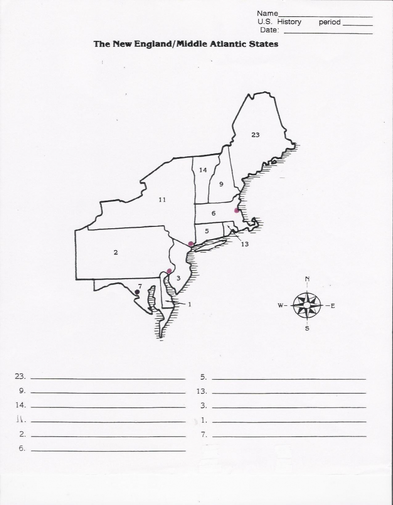 Blank Map Of Northeast States Printable Northeastern Us Political | Free Printable Map Of Northeast United States