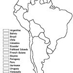 Blank Map Of South American Countries And Travel Information | Printable South America Map Quiz