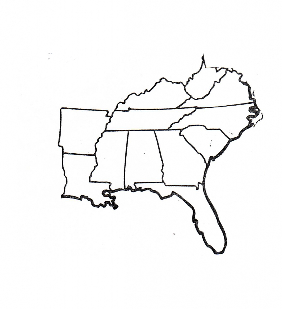 Blank Map Of Southeast Region Within Us | Map | Geography Map, Us | Printable Blank Map Of The Southeast United States