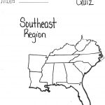 Blank Map Of Southeast Us Interactive Southeastern United At States | Printable Blank Map Of The Southeast United States