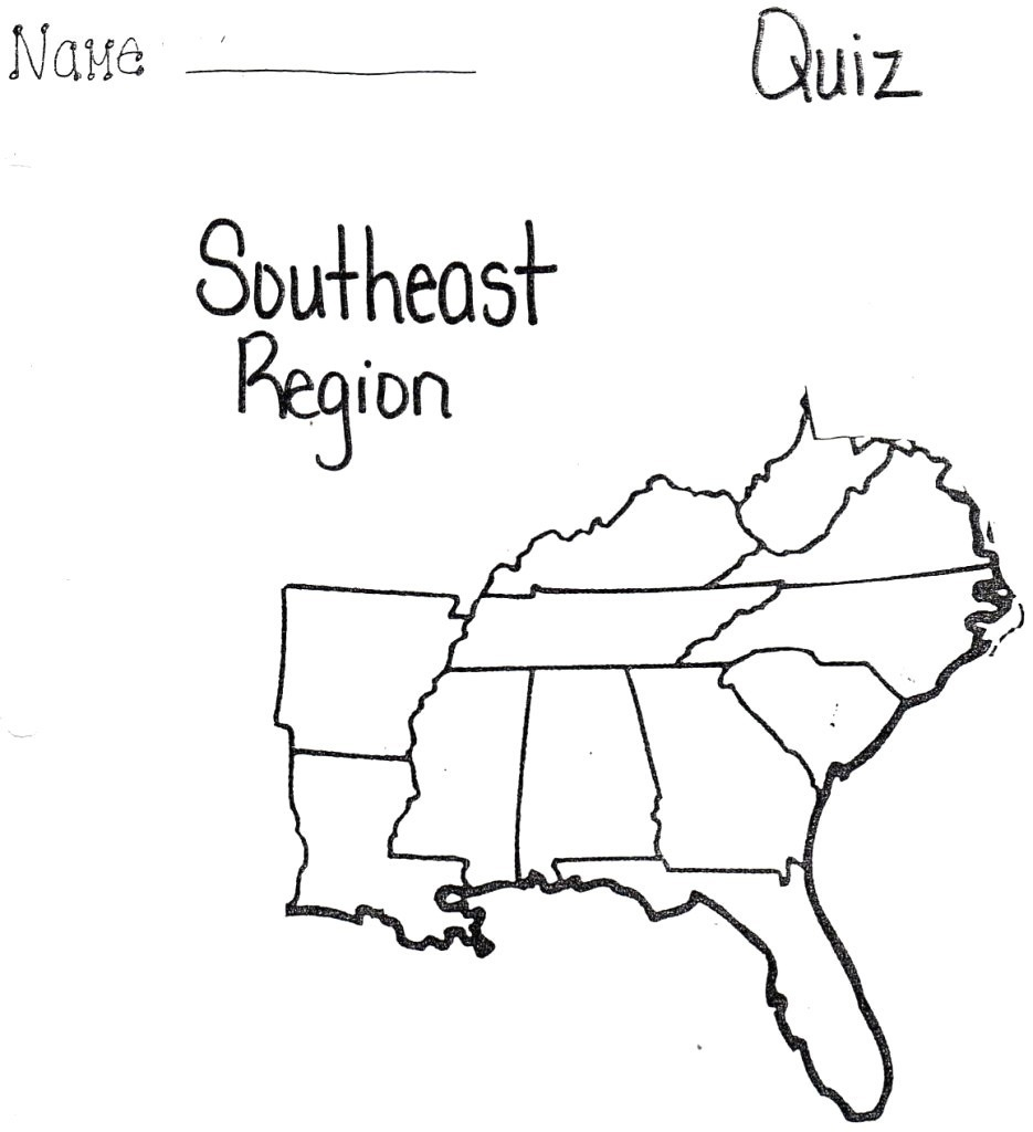 Blank Map Of Southeast Us Interactive Southeastern United At States | Printable Blank Map Southeast United States