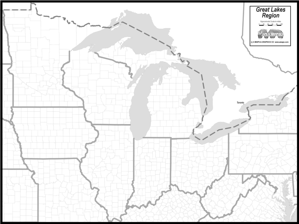 Blank Map Of The Great Lakes | Mir-Mitino | Printable Us Map With Great Lakes