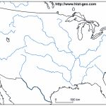 Blank Map Of The Main Rivers Of The Usa | Blank Us Map With Rivers