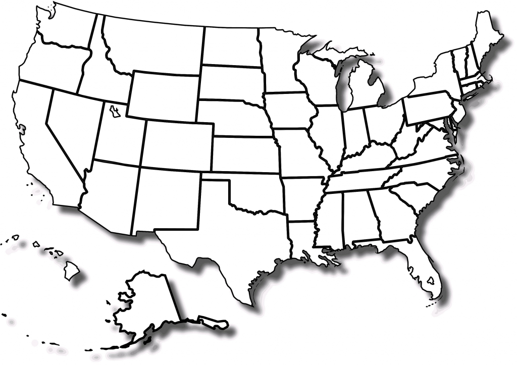Blank Map Of The Us And Canada Outline Usa Mexico With Geography | Printable Usa Map Outline
