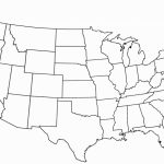 Blank Map Usa 50 States Complete Us Outline Printable United And Of | Printable Fill In Map Of Usa