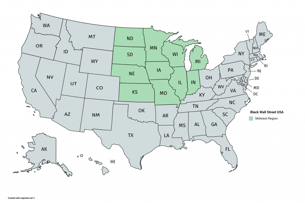 Blank Midwest Map Printable Windsurfaddicts Com | Printable Map Of Midwest Usa