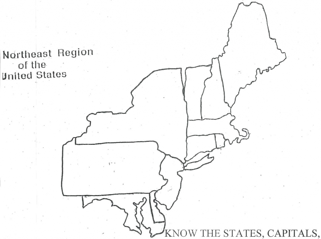 Blank Northeast Map Us Region Label Northeastern States Picturesque | Printable Map Of The Northeastern United States