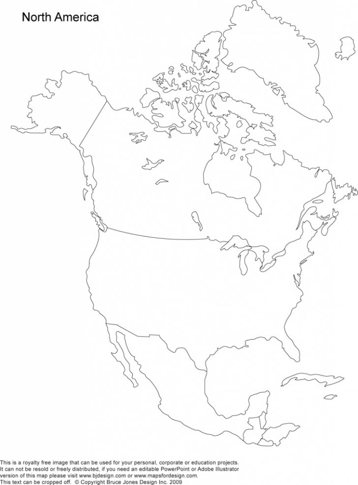 Printable Map Of North American Countries