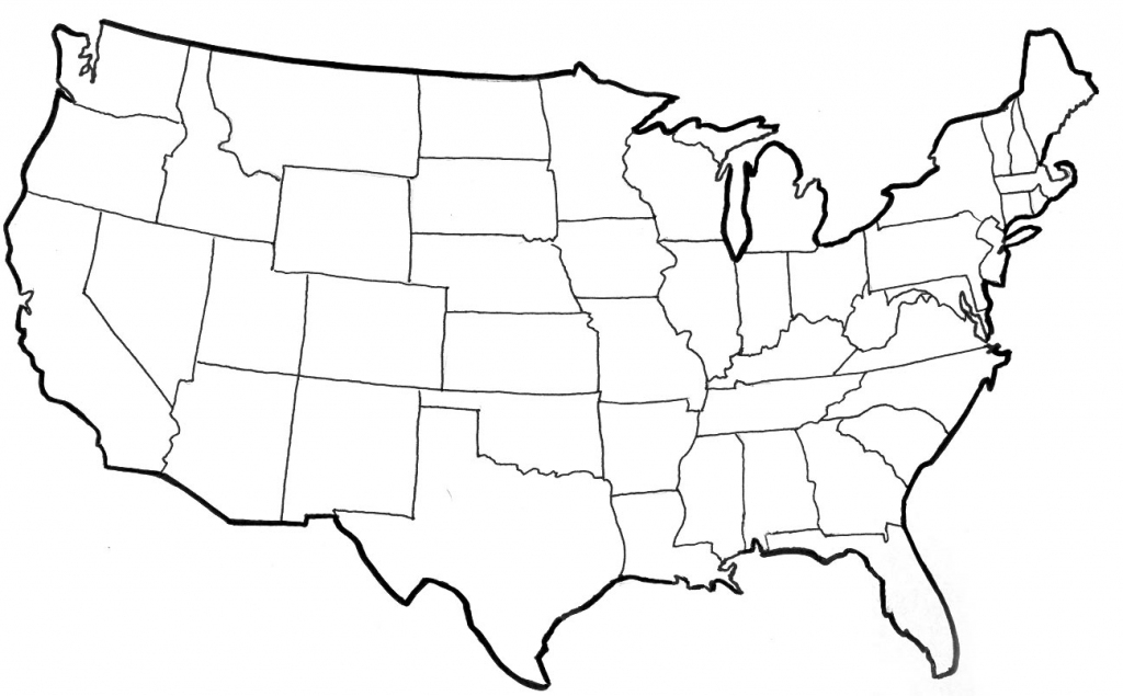 Blank Political Map Of The United States | Printable Blank Us Map With State Outlines