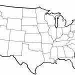 Blank Political Map Of The United States | Printable Map Of United States Blank