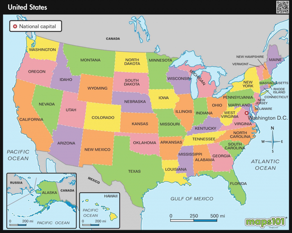 Blank Political Map Of The Us Unique Printable Political Map Of | Printable Political Map Of Usa