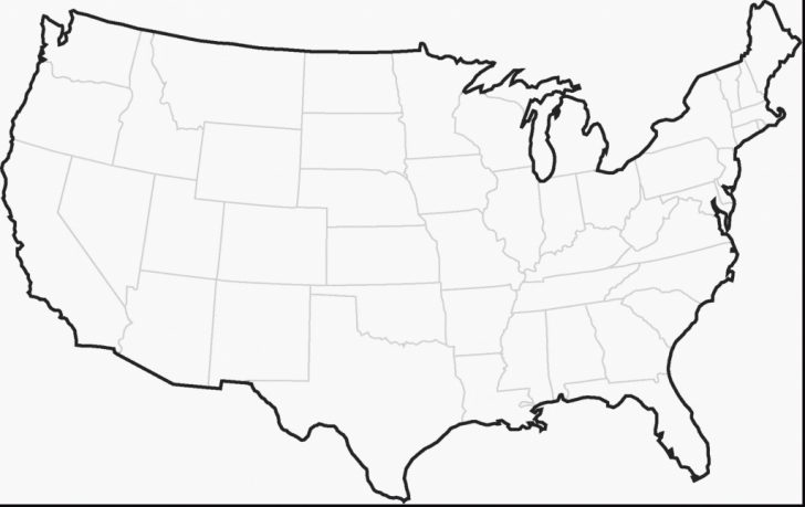 Printable Outline Map Of Eastern United States