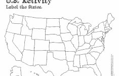 Blank Printable Map Of The United States Valid United States Map | Printable Map Of Usa States Blank