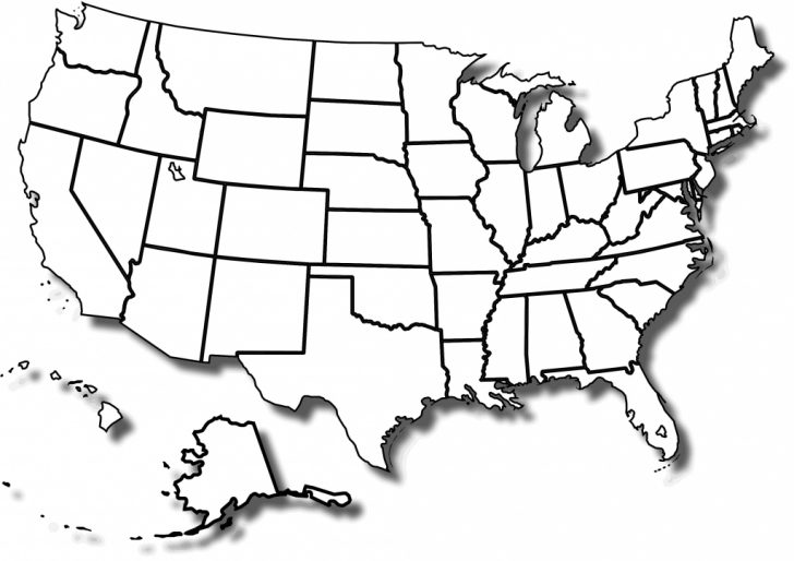 Printable Map Of The Usa Blank