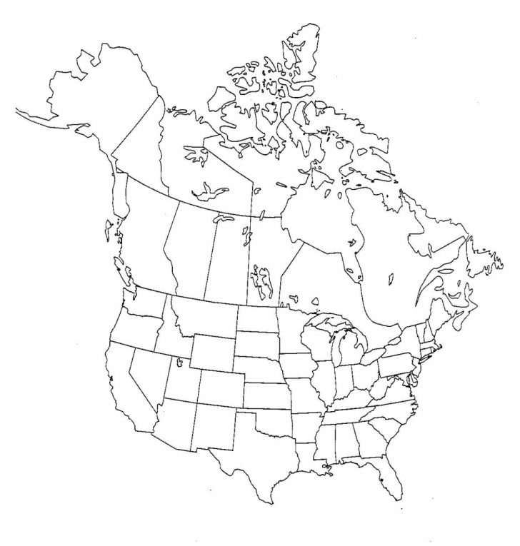 Blank Us And Canada Map Printable