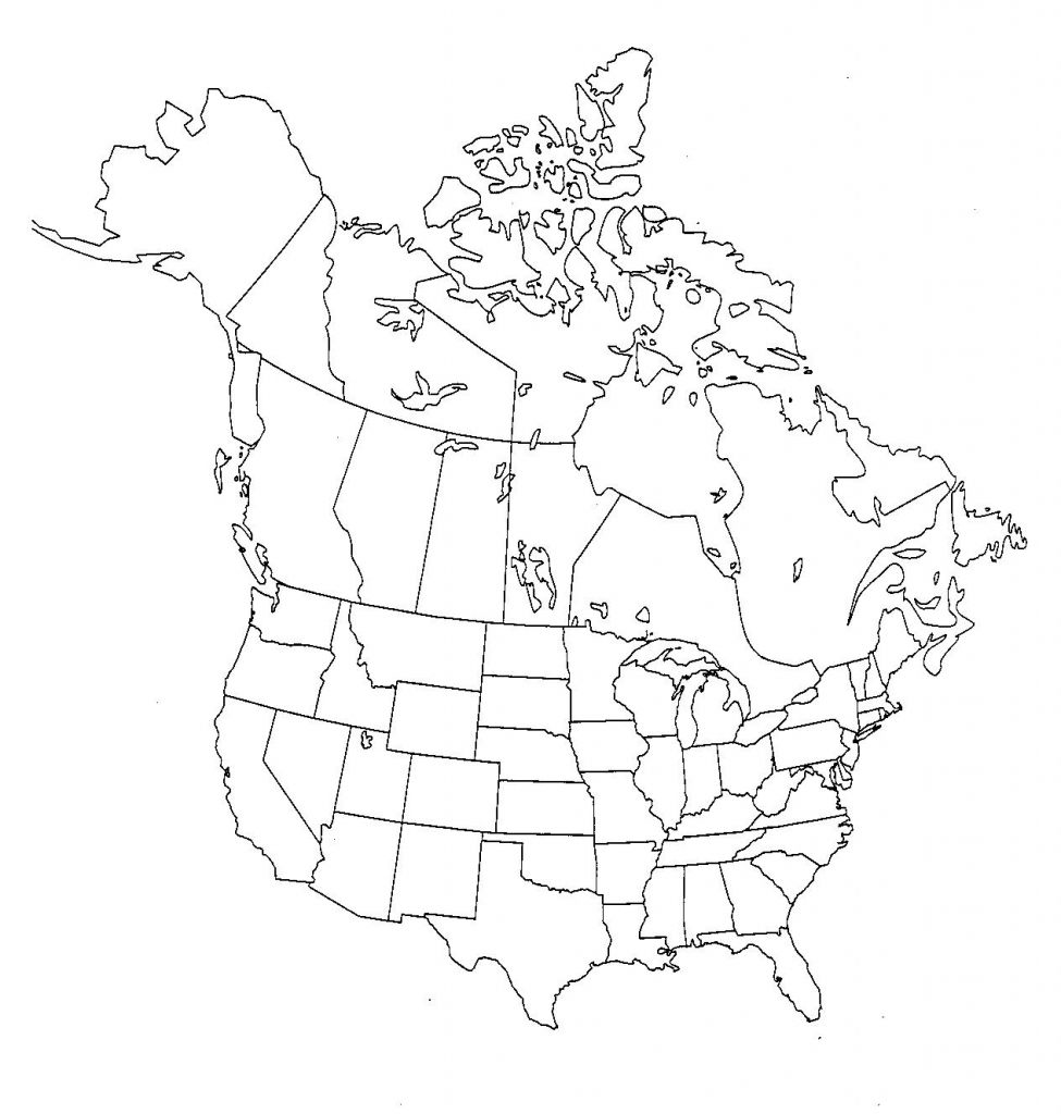 Blank Us And Canada Map Printable - Map Canada And Us List ...