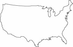 Blank Us Map – Dr. Odd | Geography | Map Outline, State Map, United | United States Map Template Printable