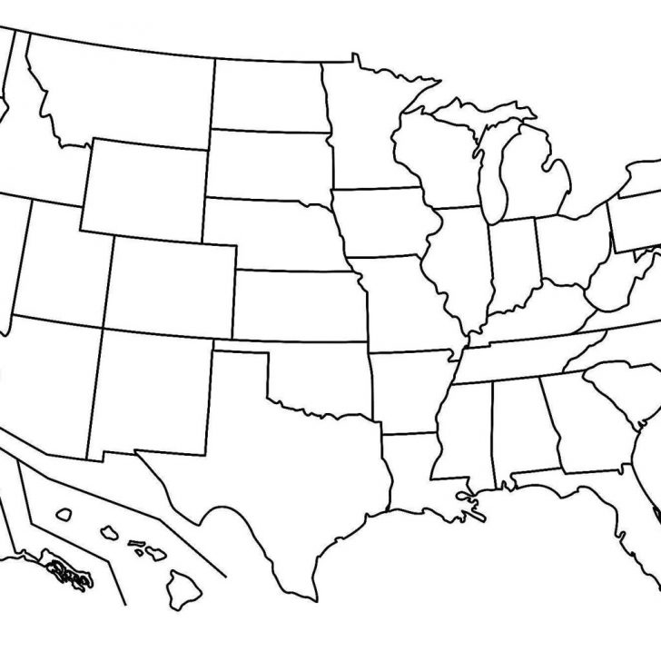 Blank Us Map With Capitals
