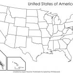 Blank Us Map With States Names Blank Us Map Name States Black White | Mr. Printable Usa Map