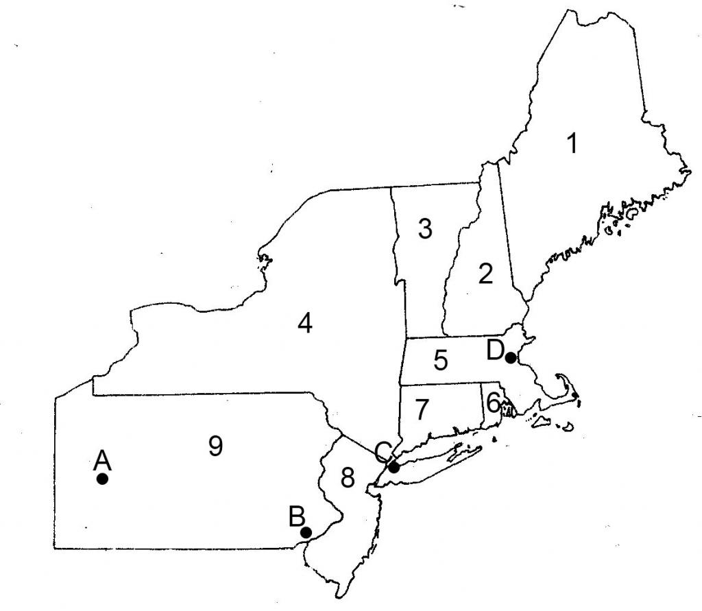 Blank Us Northeast Region Map Label Northeastern States Printout | Printable Map Northeast Region Us