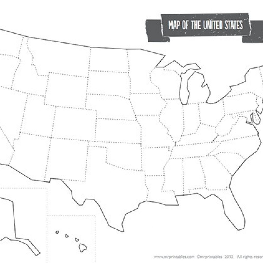 Blank Usa Map Printable Of The Usa Mr Printables | Mr. Printable Usa Map