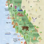 California Illustrated Map   California Print   California Map | Printable Map Of California Usa