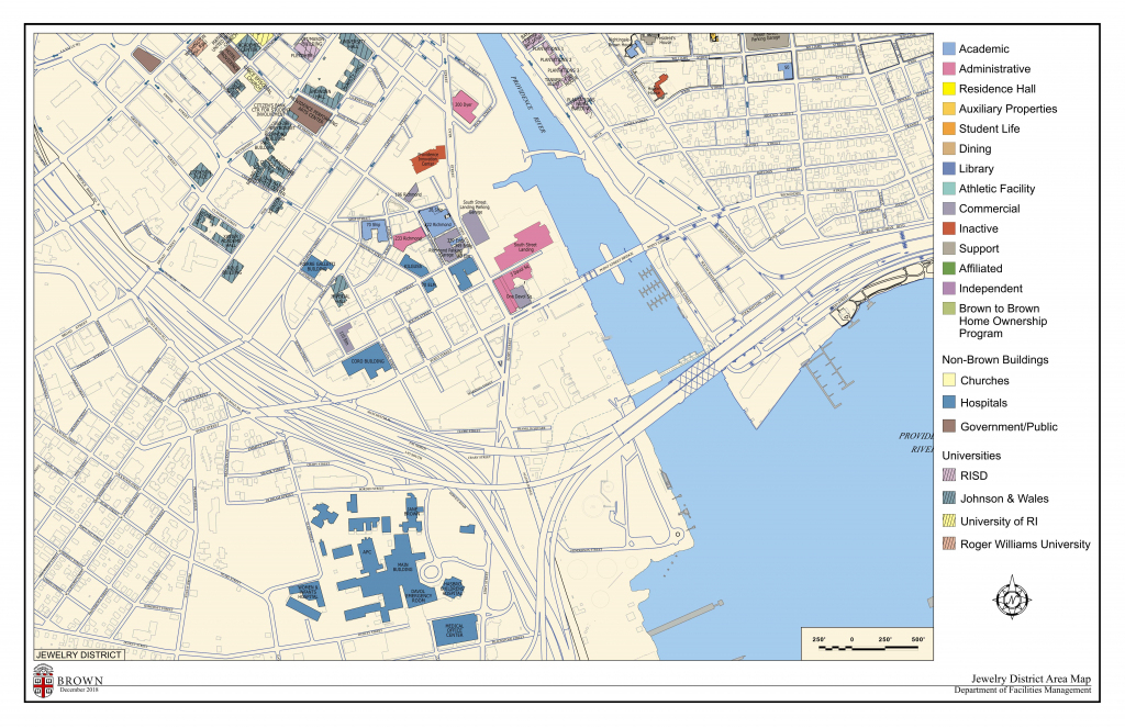 Campus Maps | Facilities Management | Brown University | 8 1/2 X 11 Printable Us Map