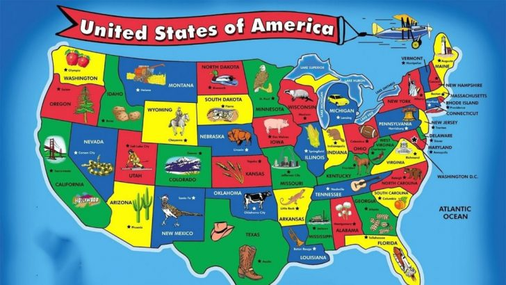 Printable United States Map For Preschoolers