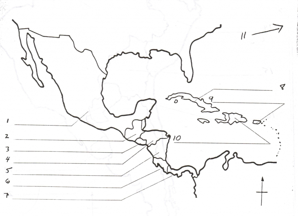 Central America Outline Map Free Printable Worksheet Us Usa Blank | Printable Map Of Central Usa