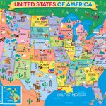 Children's Usa Map | States & Stuff | Map, Us Map, Map Games | Printable Map Of Usa Jigsaw Puzzle