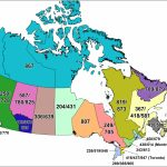 Cna  Canadian Area Code Maps   Printable United States Area Code Map
