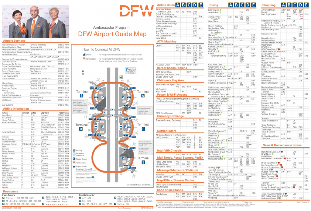 Dallas Fort Worth Airport Map | Printable Map Of Usa Airports
