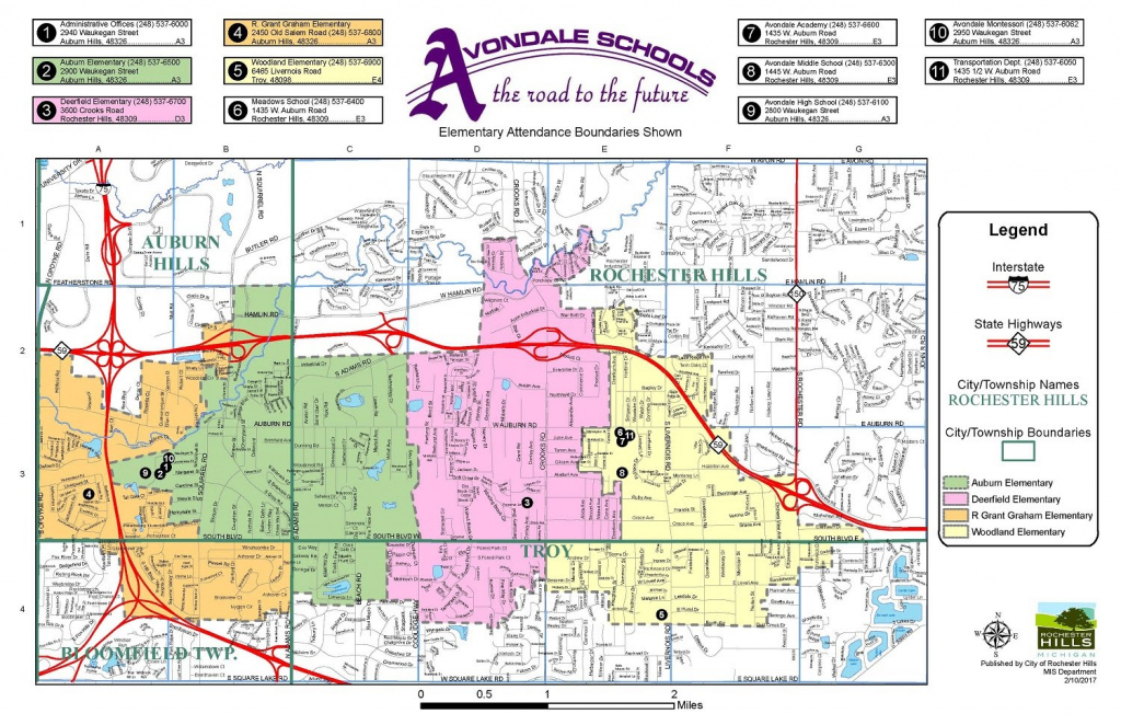 District Map - Avondale School District | Printable Us Map For Elementary School