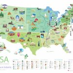 Download This Free Poster Of Famous U.s. Landmarks | Shareamerica | Blank Us Map Poster