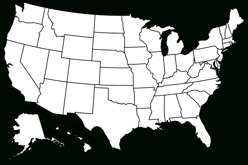 File:blank Us Map Borders.svg - Wikimedia Commons | Blank Us Map With Borders