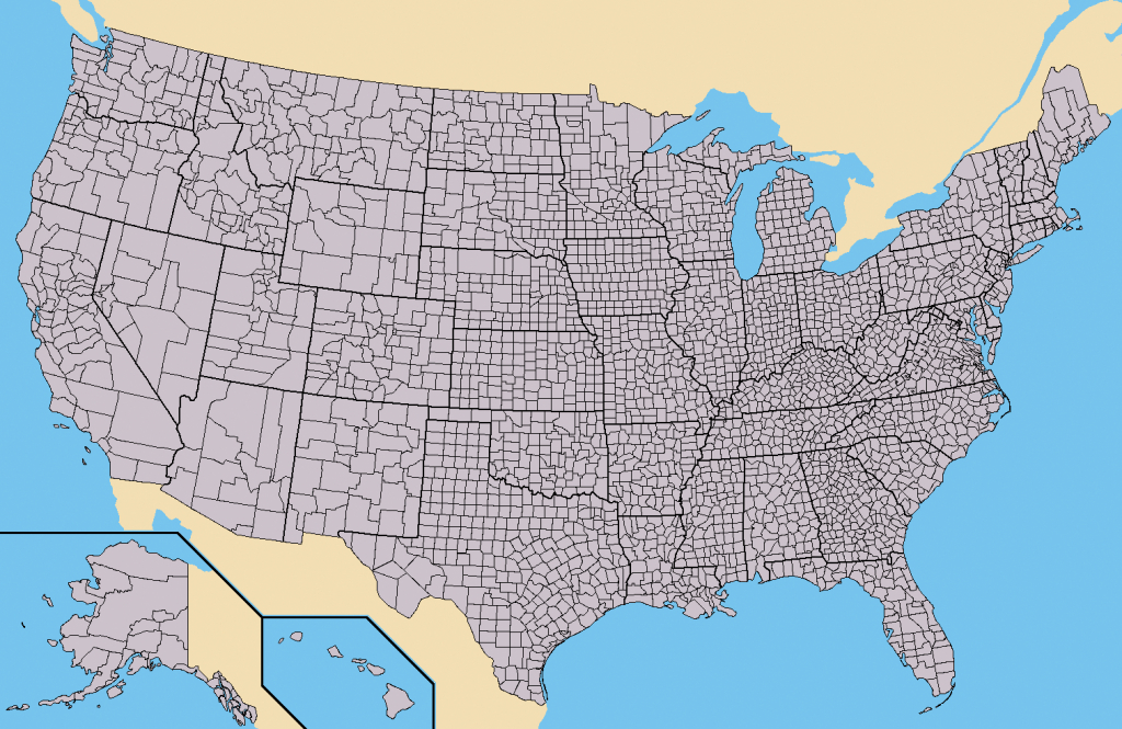 File:map Of Usa With County Outlines - Wikipedia | Blank Us County Map